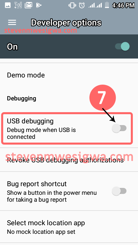 Enable Usb Debugging On Your Smart Phone - Allow USB Debugging - Step 1